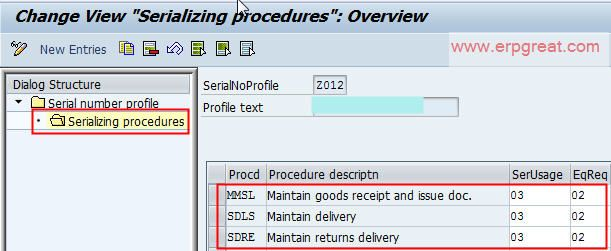 Serial Number Profile From SAP MM