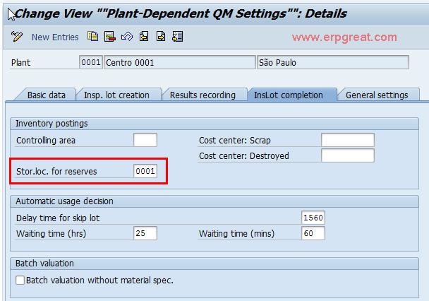 plant dependent qm settings rh erpgreat com SAP QM Icon SAP QM Configuration Overview