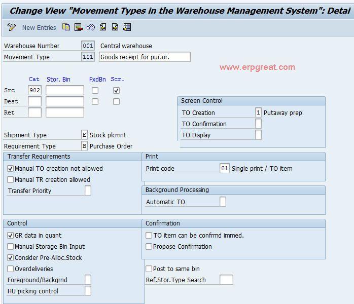Define Movement Types In Sap Wm